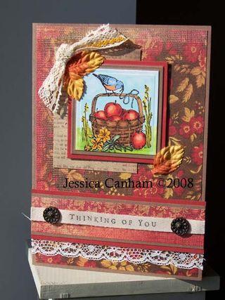 Bird with apple basket for blog