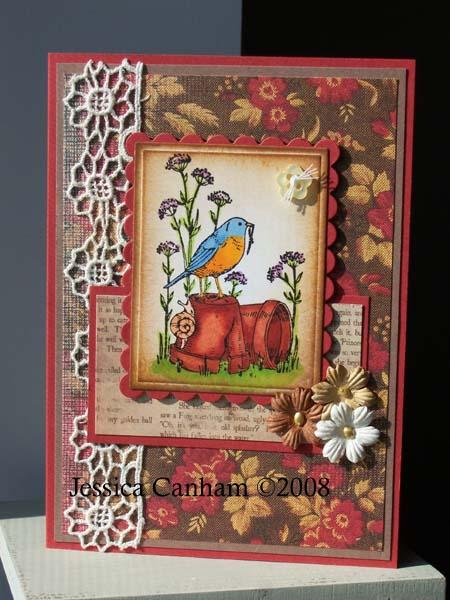 Bird on Flower pot for blog