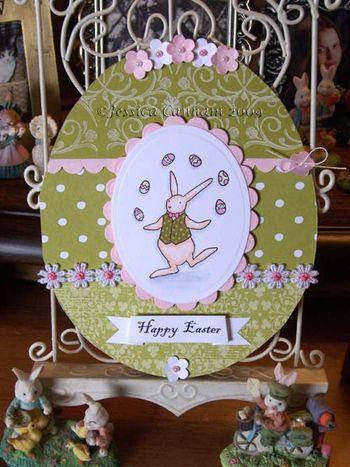 Happy Easter bunny juggler blog