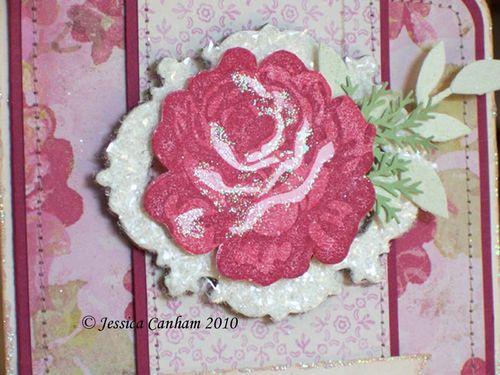 Glittered Rose closeup blog