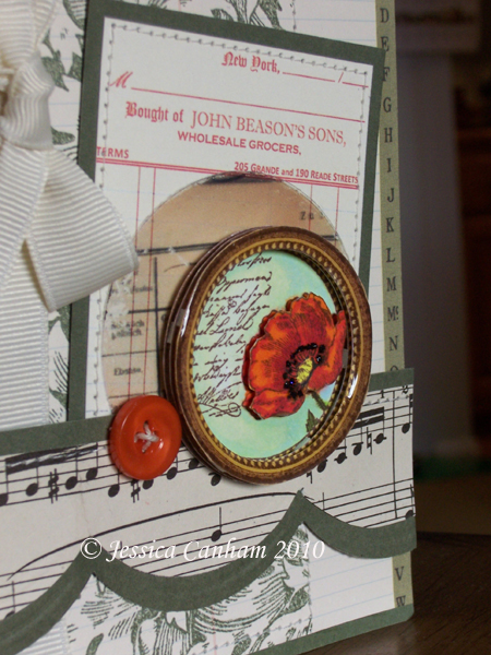 Lacquered poppy frame closeup blog